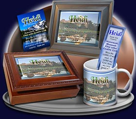 PC-SC17, Name Meaning Card, Wallet Sized, with Bible Verse, personalized, mountain heidi lake