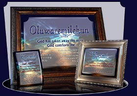 PC-SS10, Name Meaning Card, Wallet Sized, with Bible Verse, personalized, remi night sunset