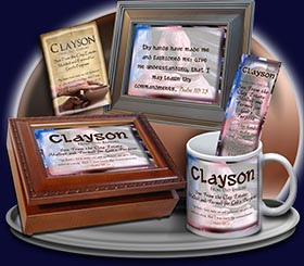PC-SY17, Name Meaning Card, Wallet Sized, with Bible Verse, personalized, clayson potter pottery clay