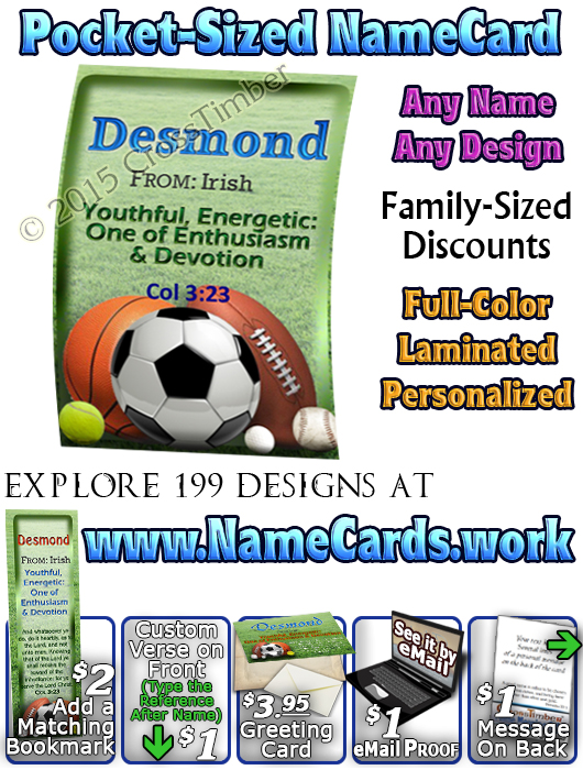 PC-SP21, Name Meaning Pocket Card
