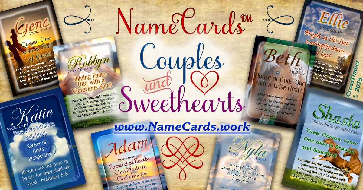 Personalized name cards for sweethearts, couples, valentines's day